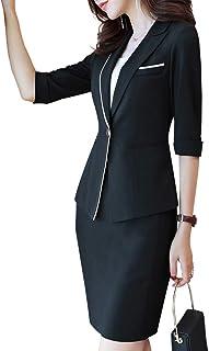 レディース 洋服 スーツ セット 春 スプリングコート 春コート ビジネススーツ 通勤 事務服 結婚式 ビジネス用 面接 無地 おおきいサイズ 洗える 2点セットスーツ ジャケット+スカート