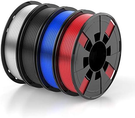 BOSOKU PLA Filament Bundle for 3D Printers 1 75mm 250g 4 Color Pack Widely Compatible for FDM product image