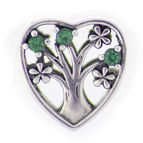 EVM Charm - Árbol de la vida y el amor compatibles con pulsera Pandora, plata de ley 925, regalo para ella, con caja de regalo, con circonita cúbica, regalo para mujer