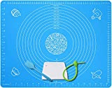 Extra Large Silicone Baking Mat for Pastry Rolling Dough with Measurements - 25' x 18' Non stick,Non Slip Table Sheet Baking Supplies for Bake Pizza Cake BPA Free Reusable Heat-Resistant