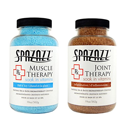Spazazz Aromatherapy Spa and Bath Crystals -Therapy (2 Pack) (Muscular/Joint Therapy - 2 PK)
