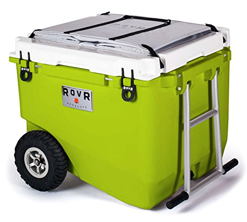 RovR Wheeled Camping Rolling Cooler with Wheels 80 qt