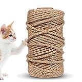 Funmo Cuerdas de cáñamo Natura, Cuerda de Yute Fuerte, Cuerda para Camping, Jardines, Barcos, Juegos de Guerra, Mascotas, Cuerda de Escalada, Cuerda de Utilidad Multiuso 4mm