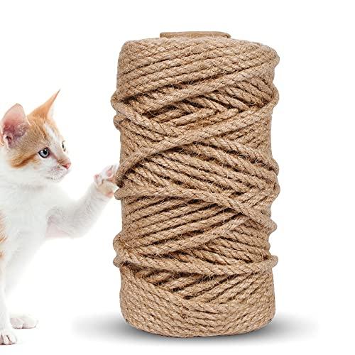 Funmo Cuerdas de cáñamo Natura, Cuerda de Yute Fuerte, Cuerda para Camping,...