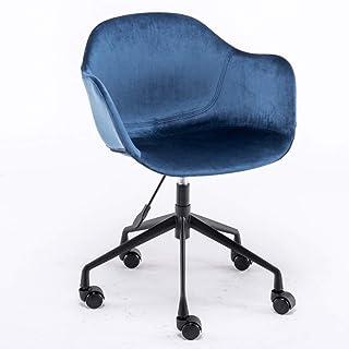 オフィスチェアPU皮質調節可能なシート高人間工学に基づいたデザイン360°回転モダンミニマリストラウンジチェア、C