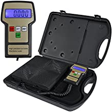 Digital Electronic R134a Freon Refrigerant Scales,Portable Charging Weight Scale 220 Lbs for HVAC/Auto AC Refrigerant Recovery Processing with Carrying Case