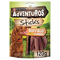 Buffalo flavour sticks Complementary pet food for adult dogs Delicious sticks for dogs with a natural sense of adventure Resealable zip for freshness Rich in meat and low in fat