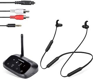Avantree HT5006 Auriculares inalámbricos para Ver la televisión, Auriculares con Banda para el Cuello con transmisor Bluetooth Bypass para TV óptica, RCA, 3,5 mm, Plug n Play, sin demora