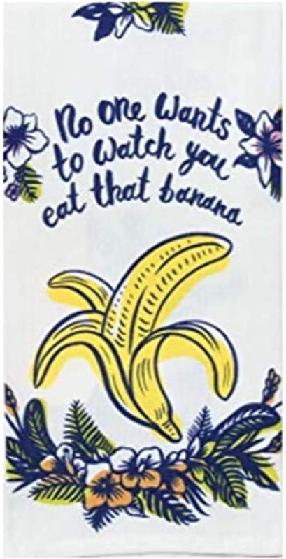 Blue Q Dish Towels No One Wants To Watch You Eat That Banana 1 Pack