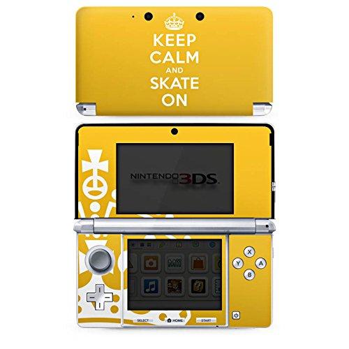 DeinDesign Skin kompatibel mit Nintendo 3 DS Aufkleber Sticker Folie Keep Calm Skateboard Skaten
