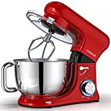 COOKLEE Stand Mixer, All-Metal Series 6.5Qt. Kitchen Electric Mixer with Dishwasher-Safe Dough...
