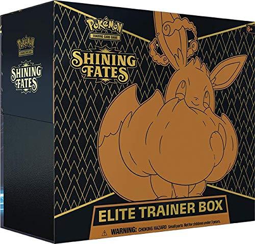 Pokemon - Glänzendes Schicksal - Top-Trainer-Box - Elite-Trainer-Box - Englisch - mit GECO Spielmatte