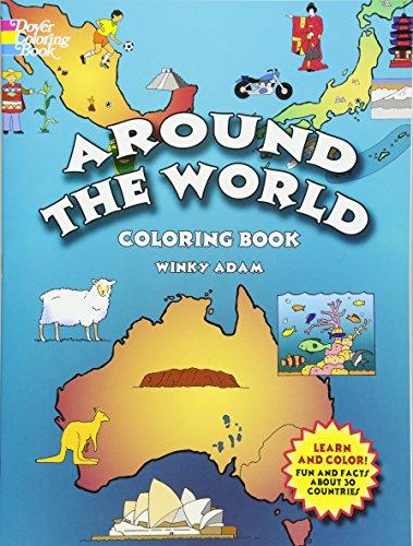 Around the World Coloring Book (Dov…