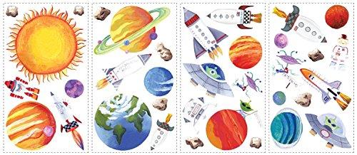 Poster Revolution Weltall, Universal, Rakete, Raumschiff, Roboter, Alien und Astronaut Elements Wall Art Sticker Decals