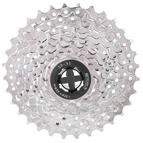 VGEBY1 Cassette de Bicicleta de montaña, piñones de Rueda Libre de buje Trasero de 9 velocidades Cambio de Rueda Libre de Bicicleta de montaña, Bicicleta de Carretera