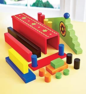 HearthSong Wooden Domino Race Add-On Set, 24-Piece