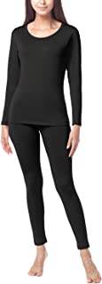 Women's Thermal Underwear Long John Set Fleece Lined Base Layer Top & Bottom L17