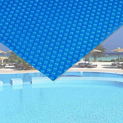 WilTec Cubierta Solar Piscina isotérmica Azul Rectangular 5x8m Lona térmica Protectora Cobertor Piscina