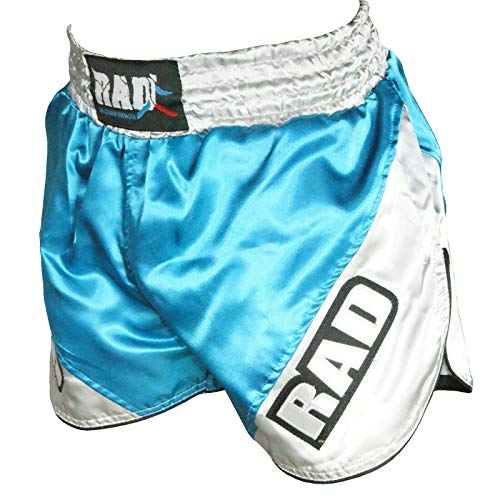 RAD The Ultimate Strength Kinder Mädchen Jungen Muay Thai Boxshorts MMA Kickfighting Grappling Cage UFC Mädchen Fight Shorts, himmelblau, Größe S