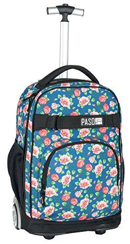 Paso Trolley Rucksack mit Rollen Schulrucksack 17-1230 (bunt UV)