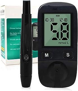 Dytxe-shelf Medidor De Glucosa En Sangre Kit/Control De La Diabetes Kit con Dispositivo De Medición,50 Tiras De Prueba De Glucosa En Sangre Sin Código,50 Lancetas Y Dispositivo De Punción