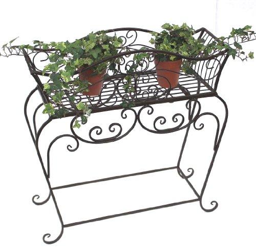 DanDiBo Blumenständer Metall Braun 72 cm Blumenbank 12554 S Blumenregal Beistelltisch Pflanzenständer Blumenbank