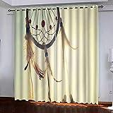 KAOLWY Cortina Opaca,280x250cm Atrapasueños,para Ventanas Cortina con Ojales para Dormitorio Y Salón Habitación