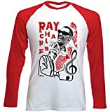 Photo de teesquare1st Men's Ray Charles Jazz Red Long Sleeved T-Shirt Size Large