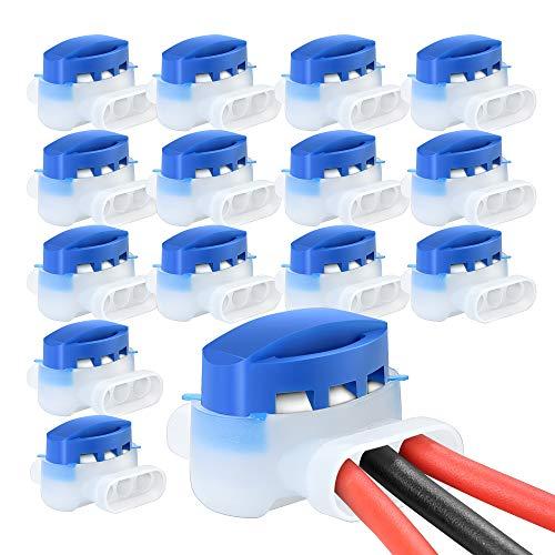 VABNEER 15 Piezas Conectores de Cable, Terminales Eléctricos Conectores- Conectores 314 Originales Impermeable para Robots Cortacéspedes
