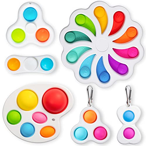 Flower Simple Dimple Sensory Fidget Blocks,A Simple Dimple Fidget Toy Set ,Mini Simple dimple Toy Suit Easy to Use,Easy to Carry Stress and Anxiety Relief Handheld Toys Set for Kids and Adults