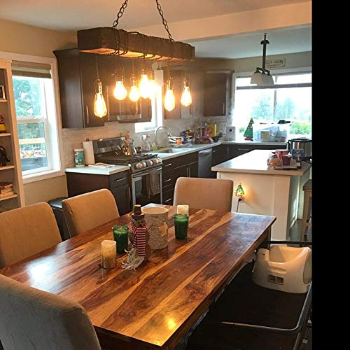 Amazon Com Wood Chandelier Farmhouse Dining Room Lighting Rustic Dining Room Lighting All Farmhouse Chandeliers Are Made With Real Barn Wood Many Different Sizes Available Handmade