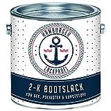 Hamburger Lack-Profi 2K - Pintura mate para barcos (RAL 9002), color blanco y gris (RAL 9002, para plástico reforzado con fibra de vidrio, plástico, poliéster, yates, yates, pintura para barcos (5 L)