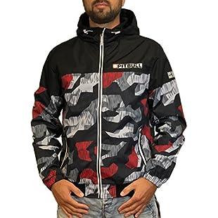 Pit Bull Westcoast Men's Jacket Black Schwarz Rot Camouflage - Black - X-Large