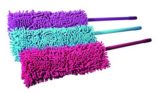 Sauber Meister Bodenwischer Mikrofaser | Wischmop Bodenwischer | Mikrofaser Wischmopp | Ideal als Wischer Set und Feudel | inklusive Wischmop Bezug Microfaser pink (Pink, Bodenwischer)