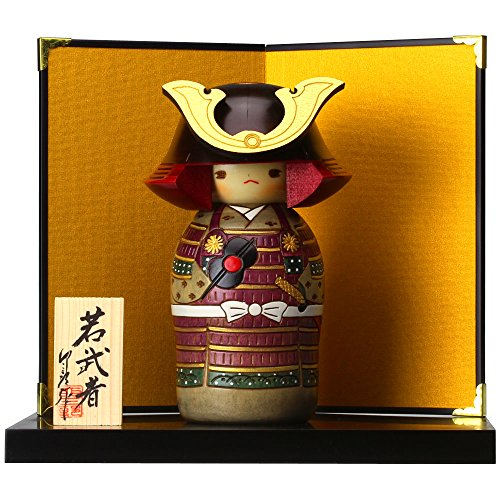 "Kokeshi-Figur UK-10-1 ""Samurai"" Handgefertigte Holzfigur aus Japan"