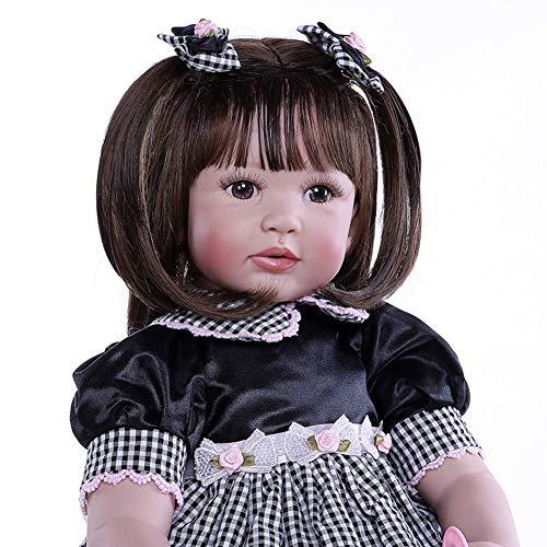 THj 24 Pulgadas 60 cm Priness Girl Baby Reborn Doll, Silicona Reborn Doll Realista Niñas Muñeca Realista recién Nacida con Ropa (B)
