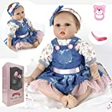 ZIYIUI Handgemachte Puppe Realistische Weiche Reborn Puppen Realistische 22 ' / 55 cm Mädchen Geschenk
