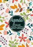 Agenda del docente 2021/2022: Grande Registro del Professore italiano A4 ,da agosto a luglio ,XL calendario per scuola settimanale , diario insegnante -fiori