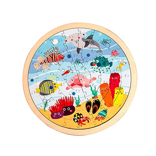 Kinder pädagogische Tier Cartoon Puzzles Eltern-Kind frühe Bildung Spielzeug 64 Stück