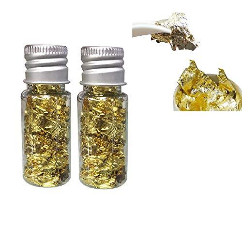 Essbare Gold Foil Blattgoldflocken, 24 Karat Gold Flocken Essbare Lebensmittel Dekorfolie Papier Küche Mousse Kuchen Backen Gebäck Kunsthandwerk Decor
