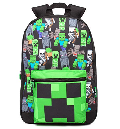 Minecraft Rucksack für Jungen Kinder Black Gamer Bag School Rucksack