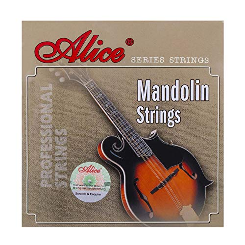 Alice Silver-Plated Copper Alloy 4-String Mandolin Strings