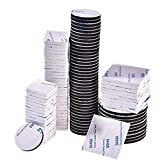 100 Pcs Double Sided Foam Pads Self Adhesive Mounting Tapes for Hook, Panel