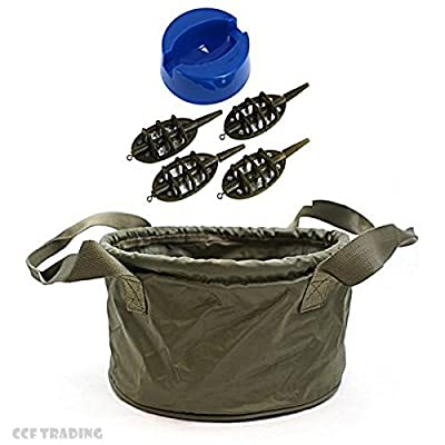 Groundbait Method Mix Mixing Bowl With Method Feeder Set Carp Fishing Tackle from NGT