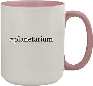 #planetarium - 15oz Hashtag Colored Inner & Handle Ceramic Coffee Mug, Pink