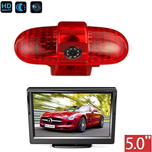 HD 720p dakrand parkeerhulp achteruitrijcamera geïntegreerd in 3e Remlicht camera voor Renault Trafic, Opel Vivaro, FIAT Talento, Nissan Primastar+5,0 inch dvd-monitor TFT-beeldscherm vrachtwagen auto LCD