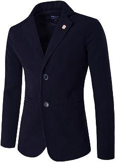 ZongSen Men's Slim Fit Casual Formal Blazer Stand Collar Blazer Jacket