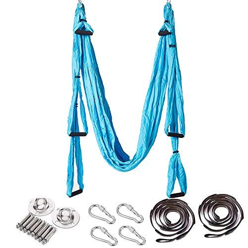 ARNTY Yoga Amaca Antigravity,Aerial Yoga Amaca,Yoga Swing,Yoga Inversione Swing,Yoga Trapeze für Inversionsübung Pilates Gymnastik (Blu)