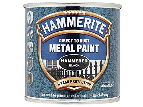 Hammerite 5084792 Direct to Rust Hammered Finish Black 250ml by Hammerite