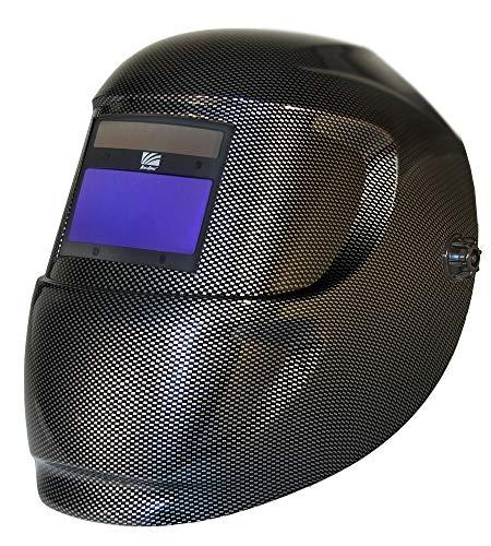 ARCONE 4500V-0110 Carrara Ultra-Light Weling Helmet with 4500V Auto-Darkening Lens, Carbon Fiber